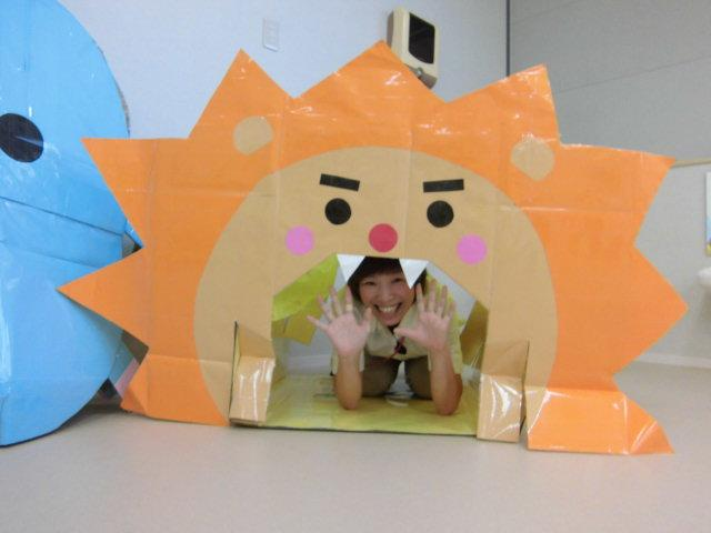 かわいいライオンのトンネルはみんなに人気!
