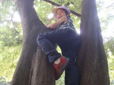 「登れたよ♪」せせらぎ公園は、楽しみながら体力作りもできる環境!